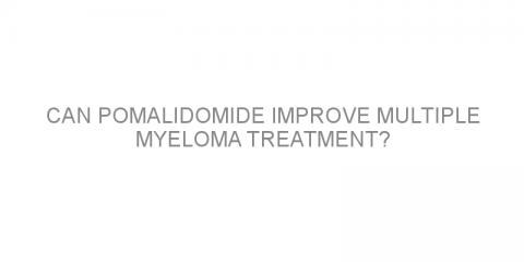 Can pomalidomide improve multiple myeloma treatment?