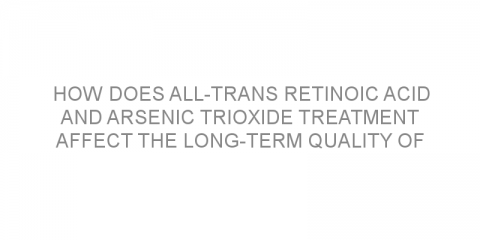 How does all-trans retinoic acid and arsenic trioxide treatment affect the long-term quality of life of patients with acute promyelocytic leukemia?