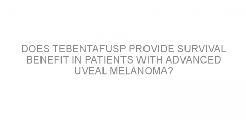 Does tebentafusp provide survival benefit in patients with advanced uveal melanoma?