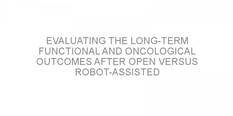 Evaluating the long-term functional and oncological outcomes after open versus robot-assisted prostate surgery for localized prostate cancer.