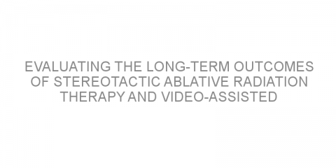 Evaluating the long-term outcomes of stereotactic ablative radiation therapy and video-assisted thoracic surgery in patients with early-stage non-small cell lung cancer.