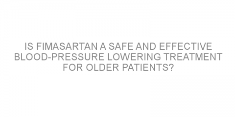 Is fimasartan a safe and effective blood-pressure lowering treatment for older patients?